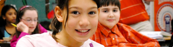 Header Image 25 - elementary girl close up - tight cropping of elementary...