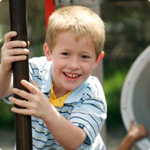 Sidebar Image 02 - Boy on Playground - an elementary age boy ready...